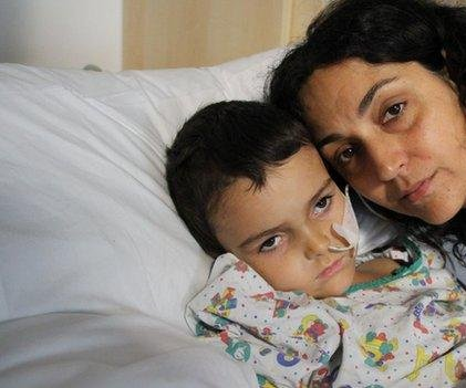 Boy being treated for brain tumor taken from hospital