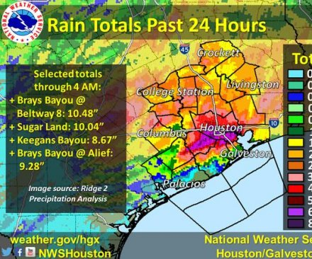 Historic flooding hits Houston as storm system moves onward, 7 states affected