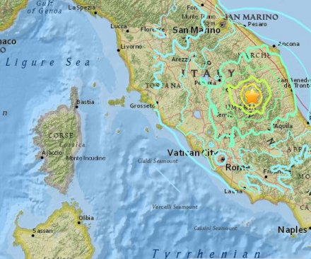 6.4 magnitude aftershock follows 5.5 quake in central Italy