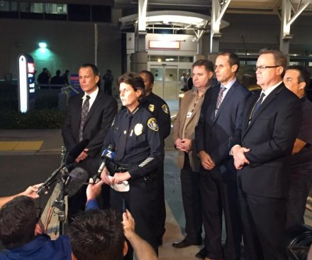 2 San Diego police officers shot, one fatally; suspect in custody