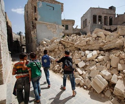 Syrian or Russian airstrike blamed for 26 deaths near Aleppo, mostly schoolchildren