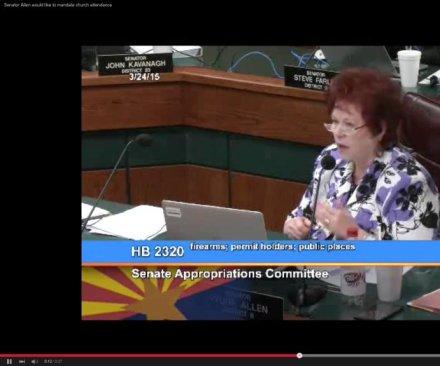 Arizona state senator wants mandatory church attendance