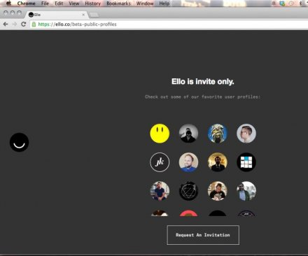 Social network Ello getting thousands of requests per hour