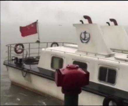 Ship carrying more than 450 flips on China's Yangtze River during storm
