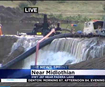 Texas dam on verge of collapse