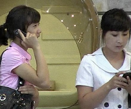 Demand for mobile phones in North Korea means two per household