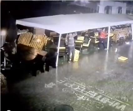 Watch: Hurricane throws man 30 feet in Russia