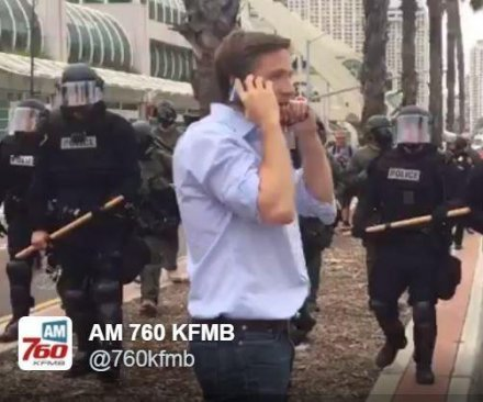 At least 35 arrested after Trump rally in San Diego