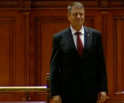 Romanian president sworn into office