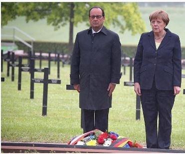 France's Hollande, Germany's Merkel mark 100 years since Battle of Verdum
