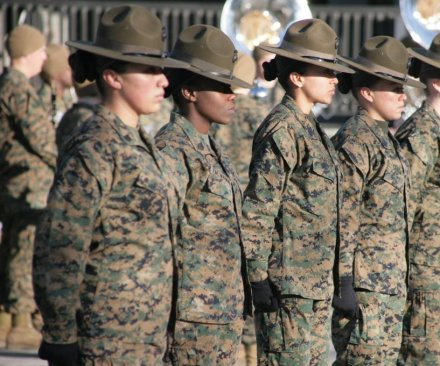Navy ad Marines open all jobs to women