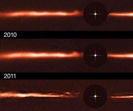Astronomers spot strange ripples emanating from star