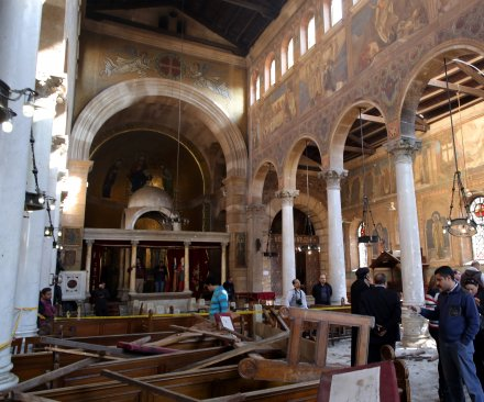 At least 25 killed in explosion at Coptic Christian chapel in Cairo