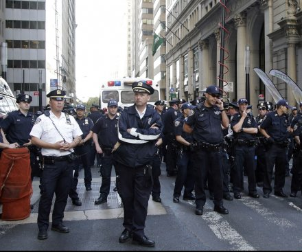 More than 100 people arrested during climate protests on Wall Street