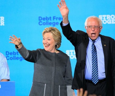 Bernie Sanders appears with Hillary Clinton in N.H.; first lady stumps in Pa.