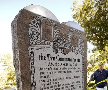 Oklahoma governor considers changing constitution to keep Ten Commandments statue