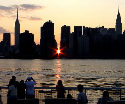 Manhattanhenge 2016: Cloud skies may hinder views