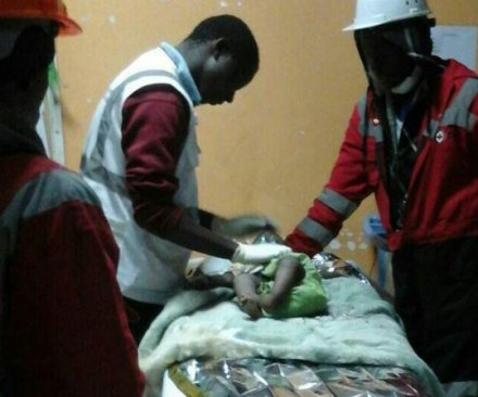 Baby girl rescued four days after building collapse in Nairobi