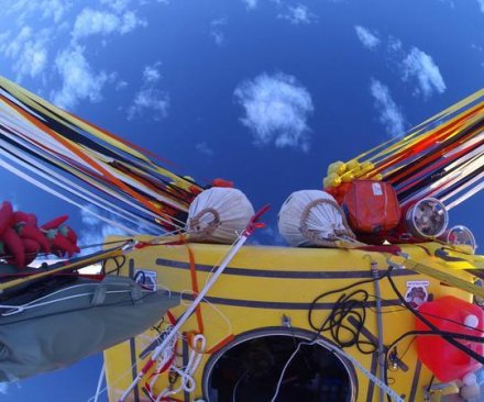 Balloonists set distance record, prepare for Mexico landing