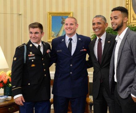 heroes meet Obama