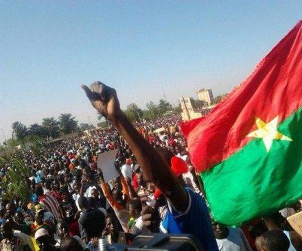 Massive street protests in Burkina Faso demand president's resignation