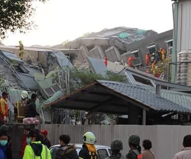 At least seven dead in aftermath of earthquake in Taiwan