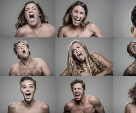 Watch seemingly naked couples tase each other in slow motion for art