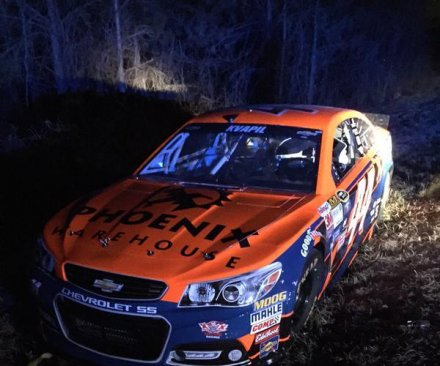 Stolen NASCAR Sprint Cup race car found abandoned on roadside