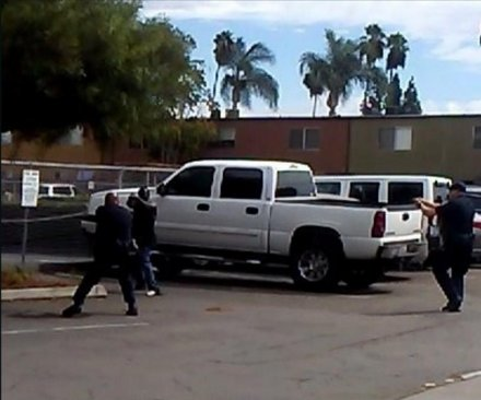 San Diego-area protesters blame race for shooting death; police say man took 'shooting stance'