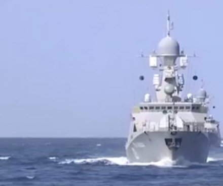 Russian Navy launches missiles against Islamic State in Syria