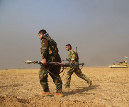 Kurdish forces capture town of Bashiqa near Mosul