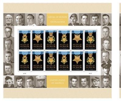 Postal Service dedicates stamp to Vietnam War Medal of Honor recipients