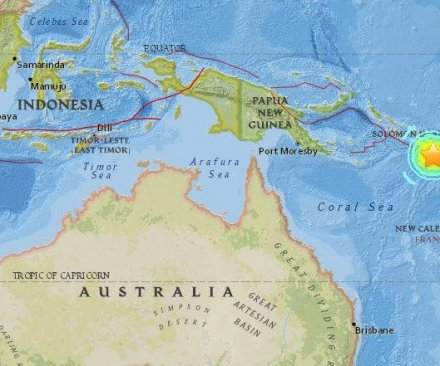 7.7-magnitude earthquake strikes off Solomon Islands