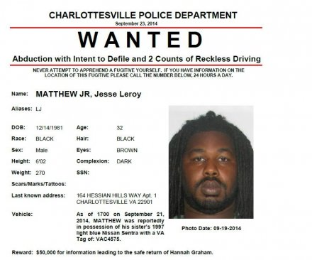 Man wanted for abduction of missing UVA student