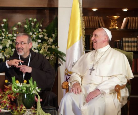 Pope Francis visits Albania, denounces use of religion as pretext for violence