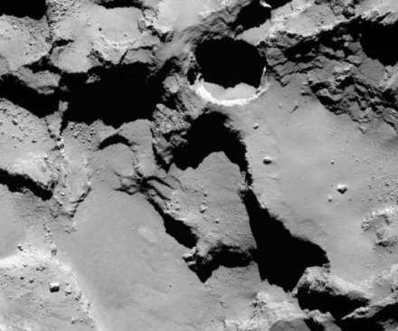 Rosetta spots sinkholes on comet 67P