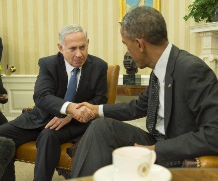 President Obama and Israeli PM Netanyahu hold bilateral talks at White House