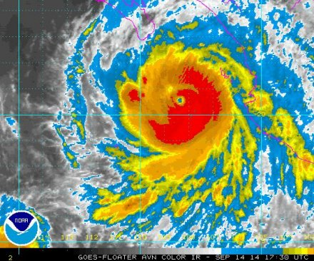 Hurricane Odile now a dangerous category 4 storm