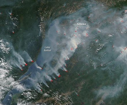 Satellite cam captures wildfires in southern Russia