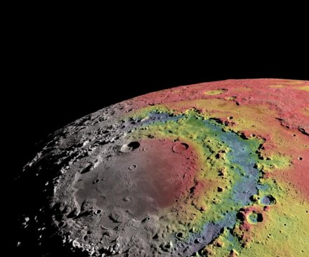New study explains moon's ringed crater