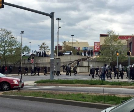 Baltimore police, protesters clash; injuries reported