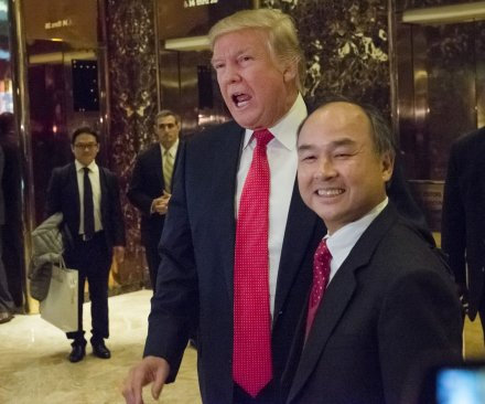 Japanese firm SoftBank investing $50B in U.S. and bringing 50K jobs, Trump says