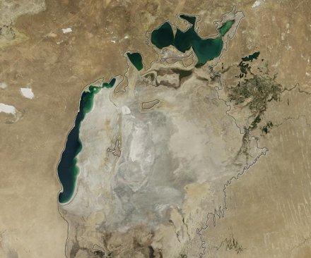 NASA satellite shows scope of Aral Sea disaster