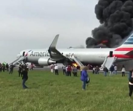 American Airlines 767 catches fire at Chicago's O'Hare, revives memories of '79 disaster