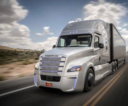 Self-driving semi trucks hitting the highway in Nevada