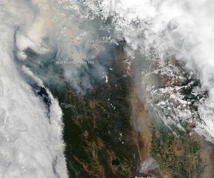 NASA image reveals Northern California wildfires
