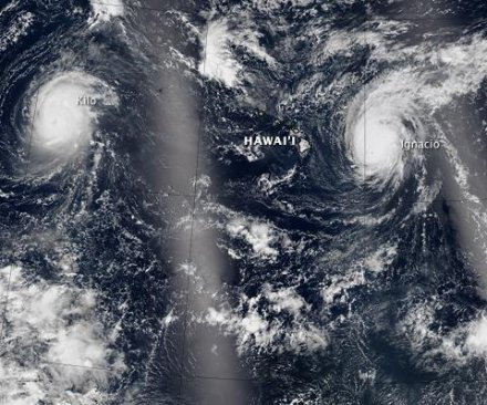 Three Category 4 hurricanes cross the Pacific Ocean simultaneously