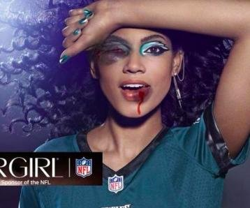 Cover Girl ads photoshopped to protest NFL's Roger Goodell