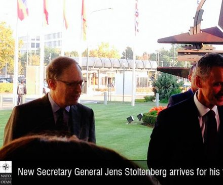 Jens Stoltenberg takes helm of NATO