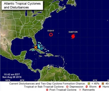 Tropical depression forms off Carolinas coast as disturbance gains strength